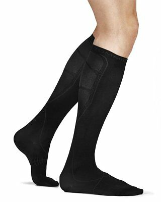 Tommie Copper Men's Recovery Jolt Dress Over The Calf Socks Black Size 6-8.5