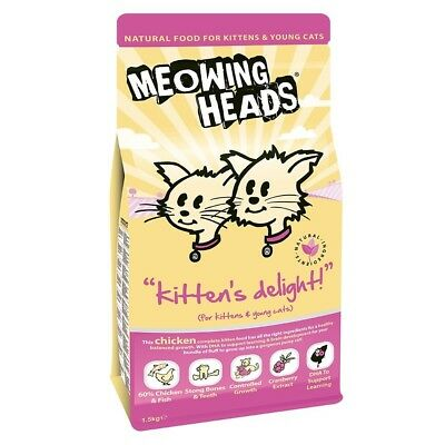 Meowing Heads Kitten's Delight Nourriture pour Chat, 1.5 kg