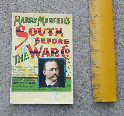 Antique 1890s Harry Martell's South Before the War Co Program Booklet Stage Show