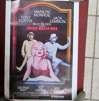 Some Like It Hot Movie Poster 1980  20-x-27 Inches Marilyn-Monroe