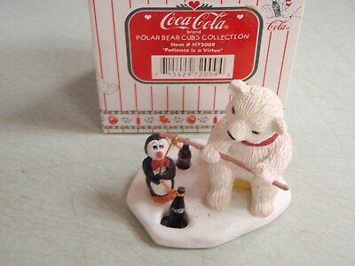 Coca Cola Polar Bear Cubs Collection H72009 Patience Is A Virtue 72009 Holiday