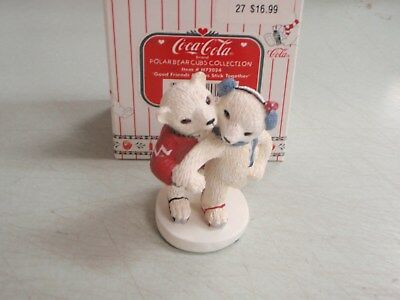 Coca Cola Polar Bear Cubs Collection H72024 Good Friends Always Stick Together