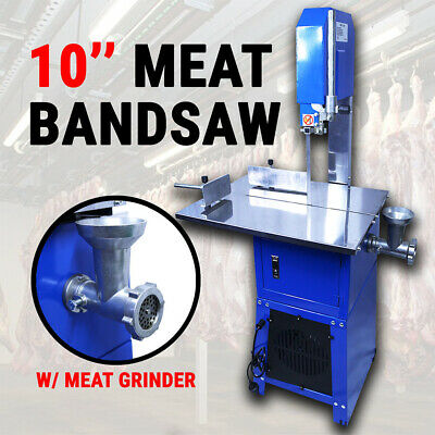 【20%OFF】Meatsaw Electric Bandsaw w/ Mincer Meat Saw Cutting Meat Mincer Saus