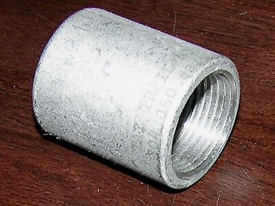 "3/4"" F NPT/FNPT Pipe 304 SS STAINLESS STEEL COUPLING FITTING, NEW"