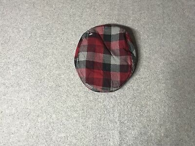 Infant Baby Boy Flat Cabbie Hat Christmas Red Plaid