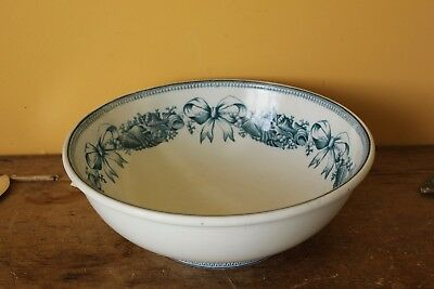 Large Victorian Brown Westhead Moore & Co Antique Washbowl.
