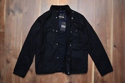 Men's Barbour International Lock Wax Jacket Black M Medium Casual Biker