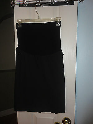 Motherhood maternity black career skirt, size Small