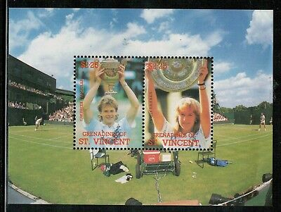 Lot 4466 - 1996 St Vincent and the Grenadines - $4.50 Tennis MNH miniature sheet