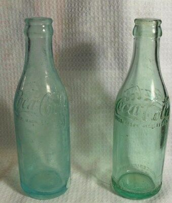 Lot Of 4 Straight Sided Coca-Cola Bottle Greensville Sc Marscotte Wva