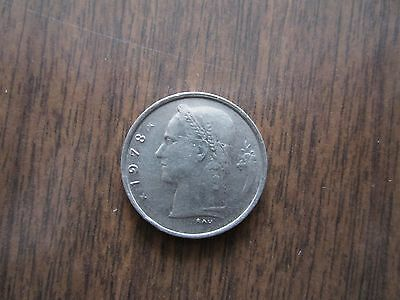 Belgie 1F coin, 1978 circulated