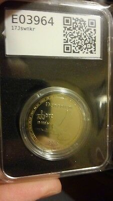 "Denarium Bitcoin - FUNDED with .001 BTC ! ""Gold Plated"" Physical Token"""