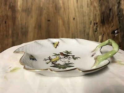 Herend Rothschild Bird Leaf Dish 205/RO R0