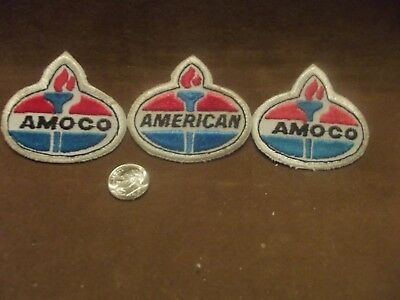 Vintage Amoco - American Embroidered Shirt Patches ~ Lot of 3