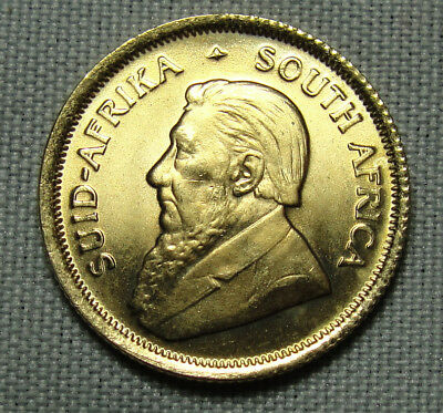 VINTAGE 1982 South African Gold Krugerrand 1/10 Tenth Ounce Coin Nice One.