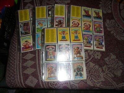 GARBAGE PAIL KIDS 1986/7 CARDS/STICKERS x 385 IN PROTECTIVE SLEEVES N MINT