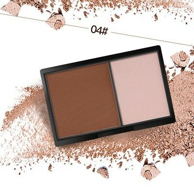 Shimmer Bronzer Powder Palette Contour Highlighter Shading Maquillage 2 Colors