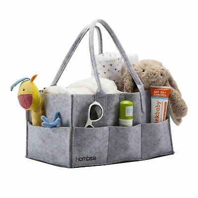 Baby Diaper Caddy Portable Nursery Storage Bin, With Changeable Compartments