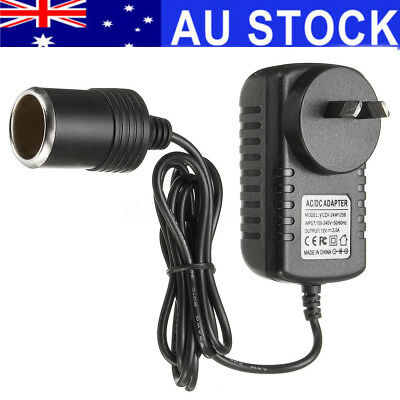 100-240V 2A to 12V Car Cigarette Lighter Socket Car Charger Power Adapter AU