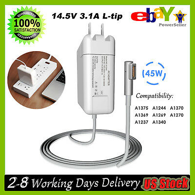 "AC Adapter Charger Cord for APPLE MACBOOK Air 11""13"" A1244 A1370 A1369 45W L-Tip"