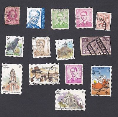 BELGIUM small selection  stamps pictured - mixed condition - most are OK USED