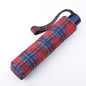 Incognito Royal Stewart Tartan Folding Umbrella In Pouch New Handbag Travel Size