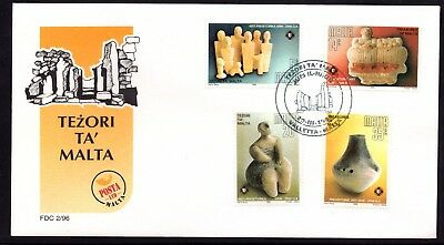 Malta 1996 Prehistoric Art First Day Cover FDC SG 1012 - 1015 Not Addressed