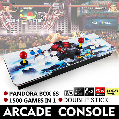 1500 in 1 Pandora Box 6s Retro Video Games Double Stick Arcade Console Light US