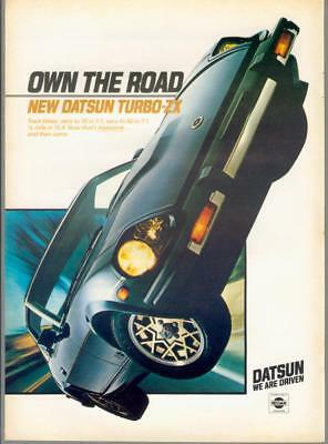 1981 Datsun Nissan 280ZX Turbo Own the Road We Are Driven Vintage Print Ad 80s