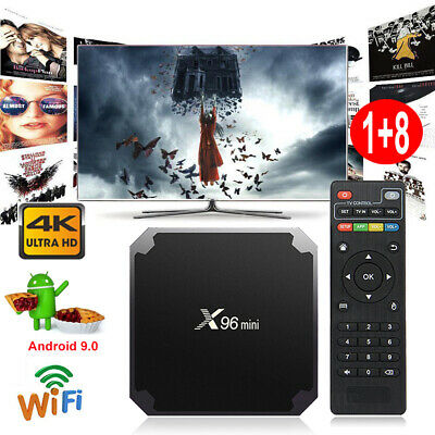 NEW S905W Quad Core Android 7.1.2 Nougat Smart TV BOX 4K Media Player WIFI 1+8G