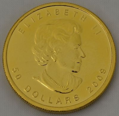 1 OZ Gold Maple Leaf 2009 Kanada 50 Dollars Goldmünze 999,9 eine Unze