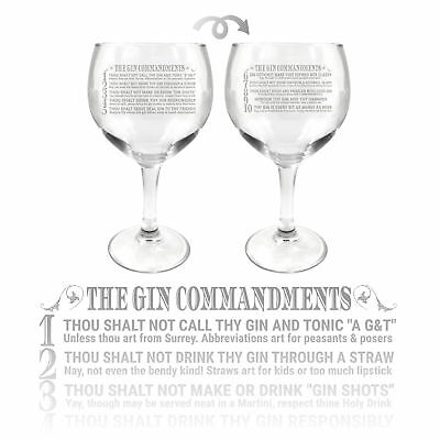Ginsanity 22oz (645ml) Gin Balloon Glass Cocktail - The Gin Commandments