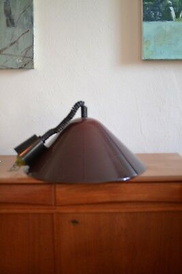 Harvey Guzzini Mid Century Italian Pendent Light great deep red colour when lit