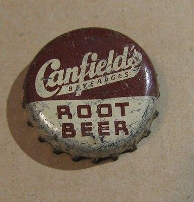 Canfield's Root Beer Soda Chicago Illinois      Soda Cork Bottle Cap