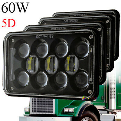 "DOT Approved 60W 4x6"" Led Cree Hi/Lo Beam Headlight for Kenworth Peterbilt Truck"