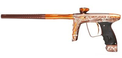 Paintball Markierer DLX Luxe ICE - MUERTE brown dust/orange gloss