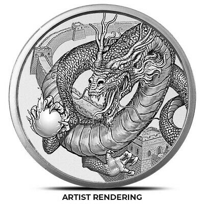 THE CHINESE DRAGON 1 oz Silver Round | World of Dragons Series #3 of 6 PRE-SALE