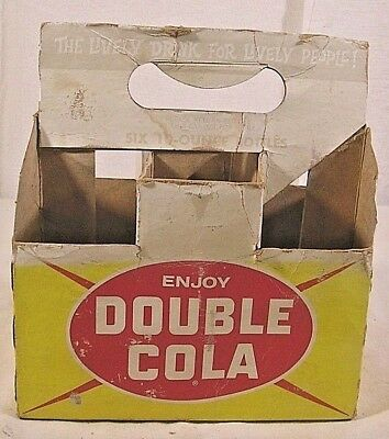Vintage DOUBLE COLA Soda Pop Bottle Carton in well used condition