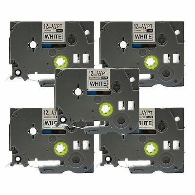 5pk TZ-231 TZe-231 Label Tape Compatible for Brother P-touch 12mm Black on White