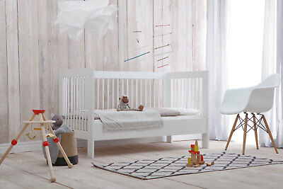 babybett kinderbett juniorbett wei 140x70 umbaubar neu eur 89 85 picclick de. Black Bedroom Furniture Sets. Home Design Ideas