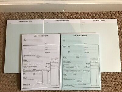 20 x used car sales invoice receipt pad a4 for selling motor vehicle