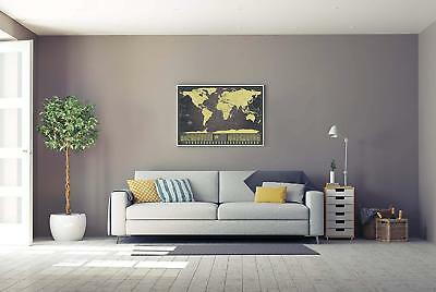 Scratch the World Map XXL Scratchable Personalized Travel Tracker Wall Poster