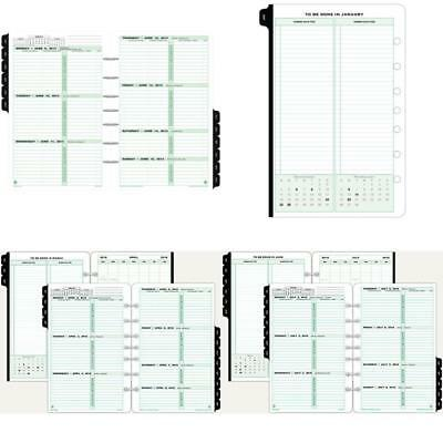 Day Timer Refill 2018 2 Page Per Week Planner Loose Leaf Desk Size 5.5in x 8.5in