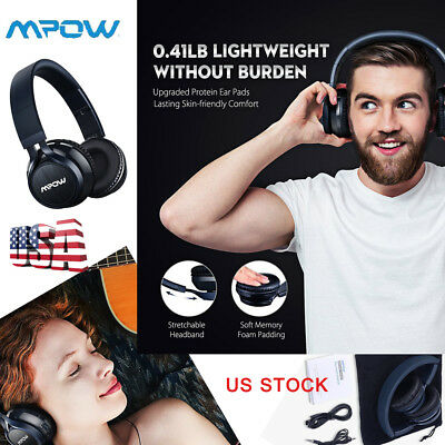 Mpow Thor Bluetooth Headphones On Ear Wireless Foldable for Cell Phone/ TV/ PC