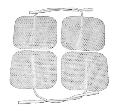 Reusable Self Adhesive Electrodes Pads for TENS, M-Stim, 5cm x 5cm (Pack of 4)