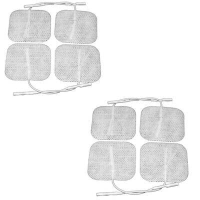 8 (2 packs 4) Reusable Self Adhesive Electrodes Pads for TENS M-Stim 5cm x 5cm