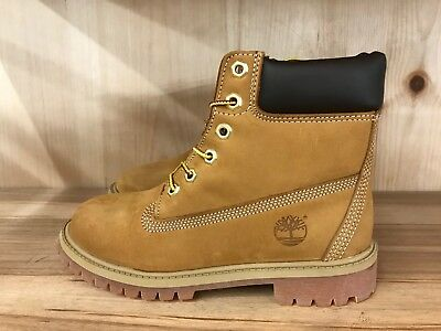 Timberland 6 Inch 6'' Premium Boot Wheat Construction Kids Gs Sz 4-7 Y  12909