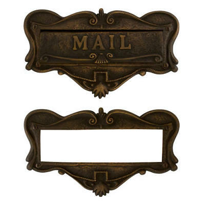 Signature Hardware Adorned Solid Brass Mail Letter Slot