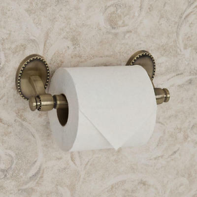 Signature Hardware Reminiscence Collection Toilet Paper Holder in Antique Brass