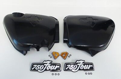 Honda CB750 1975-1977 Side cover and Emblems Set - Orange Diamonds
